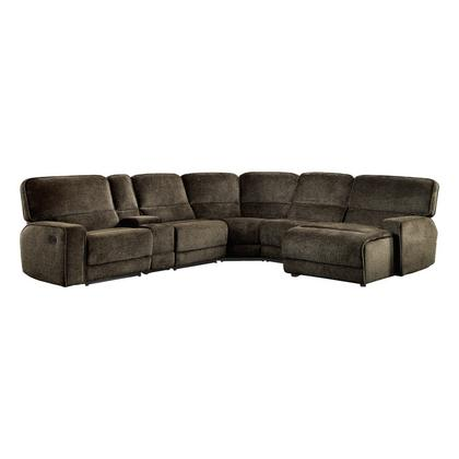 See Details - 6-Piece Modular Reclining Sectional with Right Chaise
