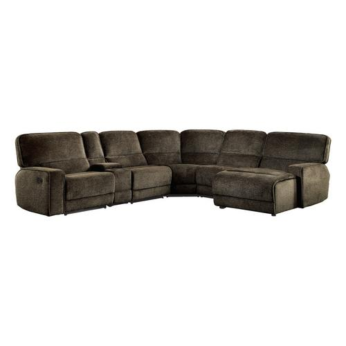 Homelegance - 6-Piece Modular Reclining Sectional with Right Chaise