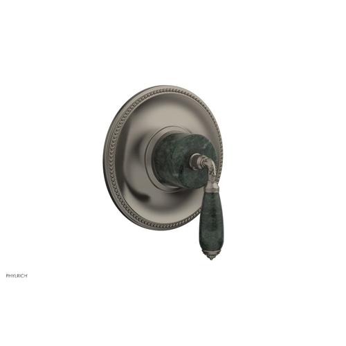 Phylrich - VALENCIA - Thermostatic Shower Trim, Green Marble Lever Handle TH338F - Pewter