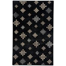 "Glace Black Cream - Rectangle - 3'3"" x 5'3"""