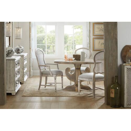 Dining Room Boheme Gaston Metal Back Arm Chair - 2 per carton/price ea