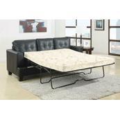 Samuel Transitional Black Sleeper Sofa