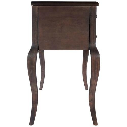 Featuring an updated wood finish, five drawers and cabirole legs this desk works great in any space. Tuck an elegant stool beneath this crisply finished desk to create a chic vanity, or pull up a colorful office chair for an inspired workspace.