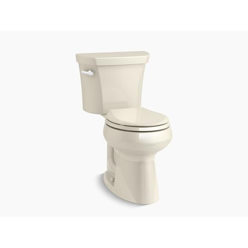 Almond Two-piece Round-front 1.28 Gpf Chair Height Toilet With Insulated Tank