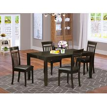 5 Pc Dining room set for 4-Table with Leaf and 4 Dining Chairs