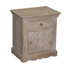 See Details - Nightstand - Natural Mango Finish