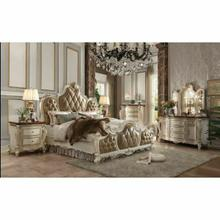 ACME Picardy Eastern King Bed - 26897EK - PU & Antique Pearl