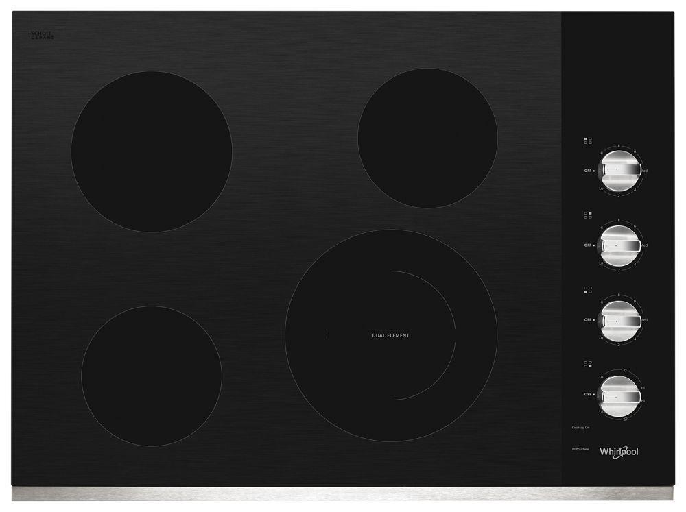 Whirlpool30-Inch Electric Ceramic Glass Cooktop With Dual Radiant Element