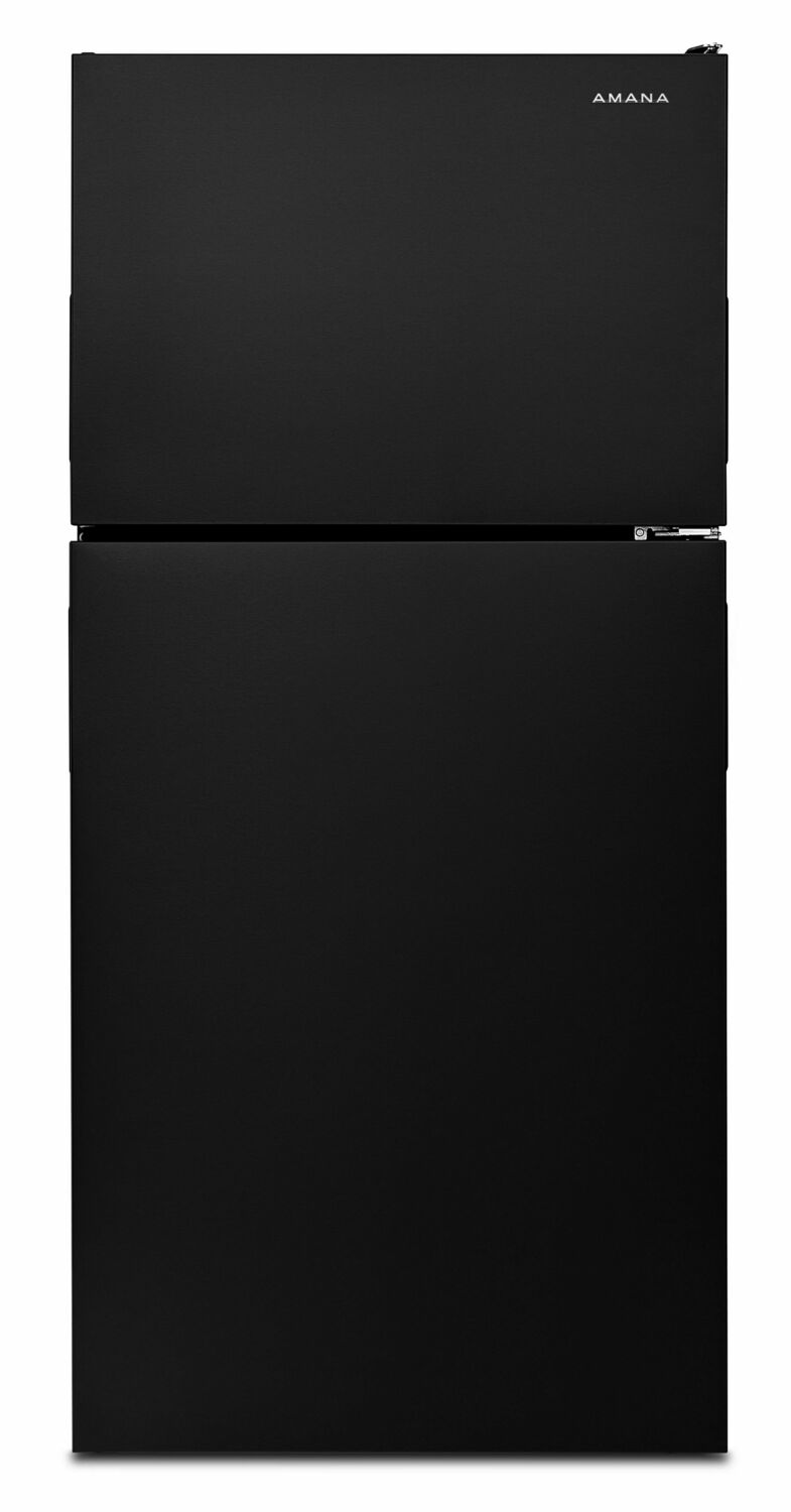30-inch Wide Top-Freezer Refrigerator with Garden Fresh Crisper Bins - 18 cu. ft. - Black