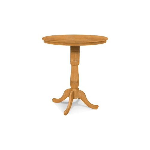 John Thomas Furniture - Round Table (top only) / Traditional Pedestal / Extension Piece (x2)
