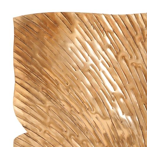 Howard Elliott - Square Leaf Wall Decor Antique Gold Medium