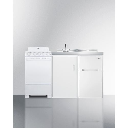 """View Product - 60"""" Wide All-in-one Kitchenette With Electric Coil Range"""