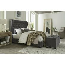 See Details - CHLOE - FRENCH Upholstered Bed Collection (Grey)