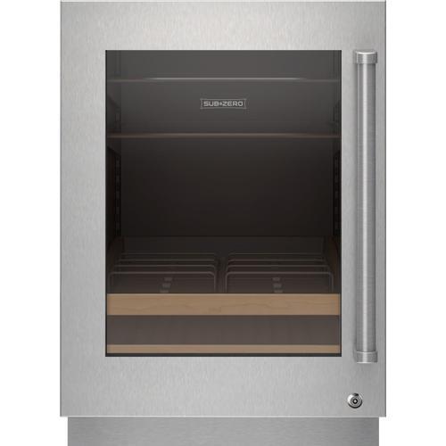 Stainless Steel Glass Door Panel With Lock - Pro Handle, Left Hinge