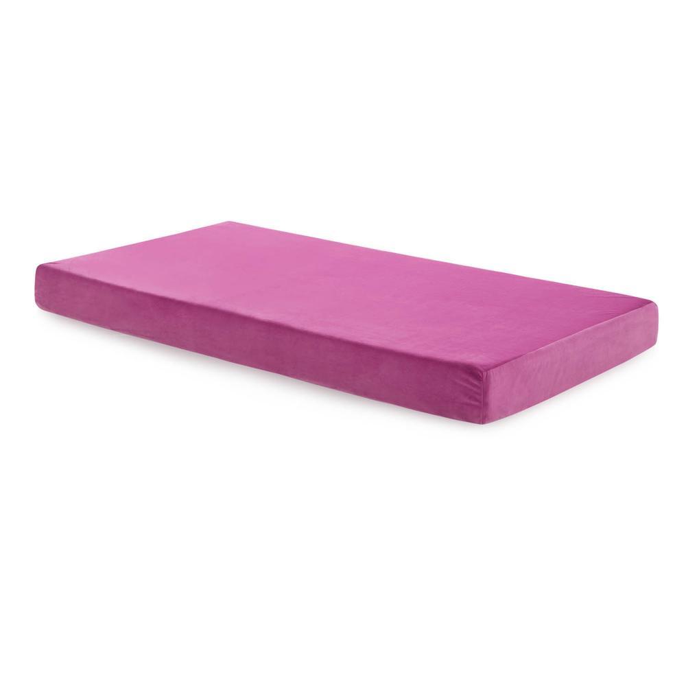 Brighton Bed Gel Memory Foam Mattress Full Pink