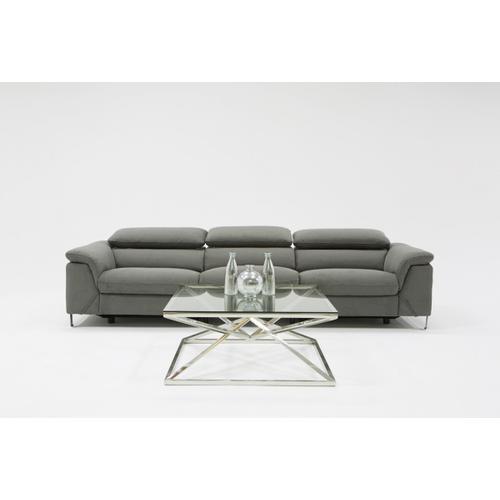 VIG Furniture - Divani Casa Maine Modern Grey Velvet Sofa w/ Electric Recliners
