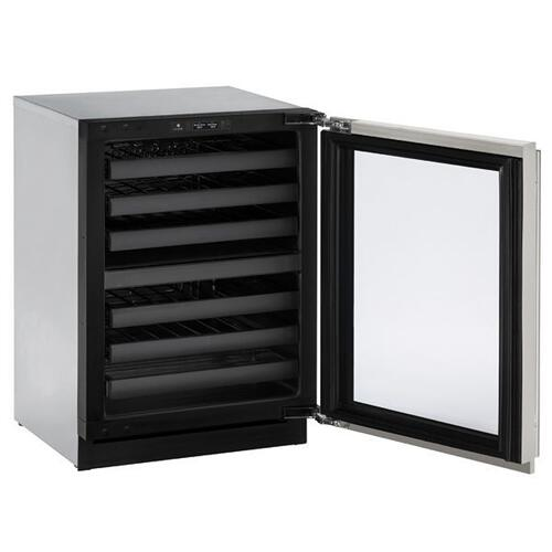 """24"""" Dual-zone Wine Refrigerator With Stainless Frame Finish and Field Reversible Door Swing (115 V/60 Hz Volts /60 Hz Hz)"""