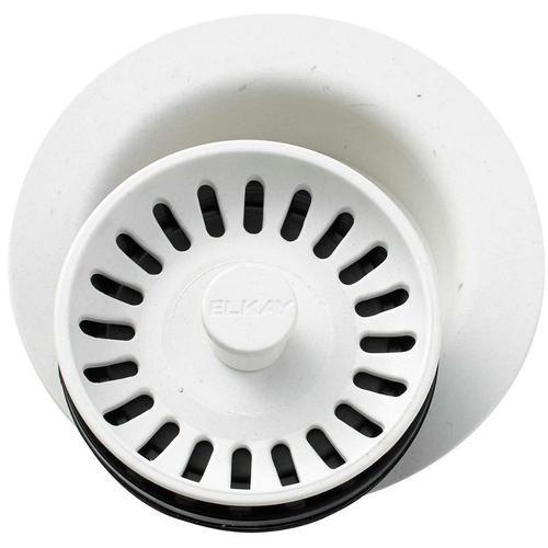 "Elkay - Elkay Polymer 3-1/2"" Disposer Flange with Removable Basket Strainer and Rubber Stopper Ricotta"