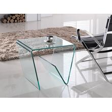 The Capri End Table In Clear Bent Glass