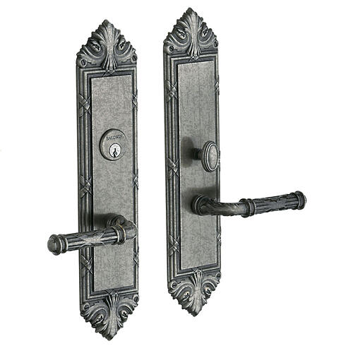 Distressed Antique Nickel Fenwick Entrance Trim
