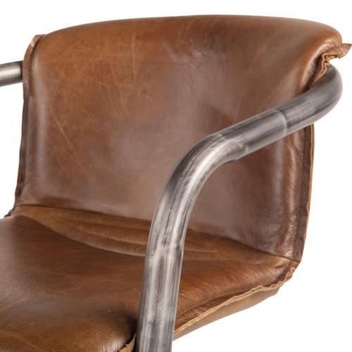 Portofino Leather Dining Chair Berham Chestnut