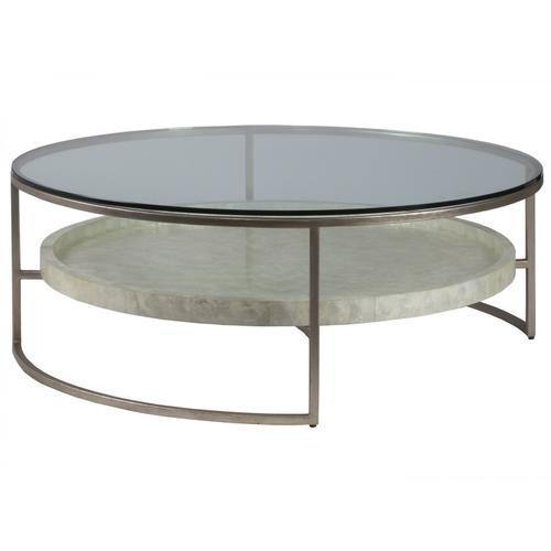 Cumulus Capiz Large Round Cocktail Table
