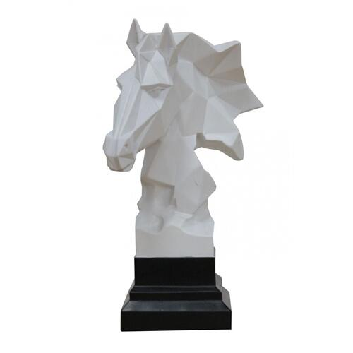 Gallery - Modrest Stallion - Geometric White Sculpture
