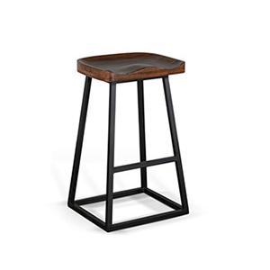 "Gallery - 30""H Barstool, Wood Seat"