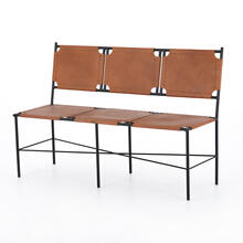 View Product - Zeke Accent Bench-caramel Leather