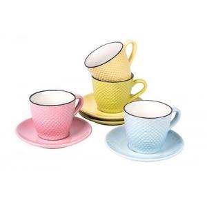 Mugs & Saucers- Set of 4