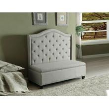 ACME Fairly Settee w/Storage - 57262 - Beige Fabric & Espresso