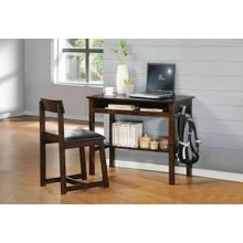 ACME Vester 2Pc Pack Desk & Chair - 92044 - Black PU & Espresso