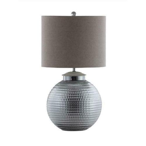 Coaster - Silver and Oatmeal Table Lamp With Metal Base