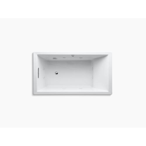 "Biscuit 66"" X 36"" Heated Whirlpool Bath With Reversible Drain"