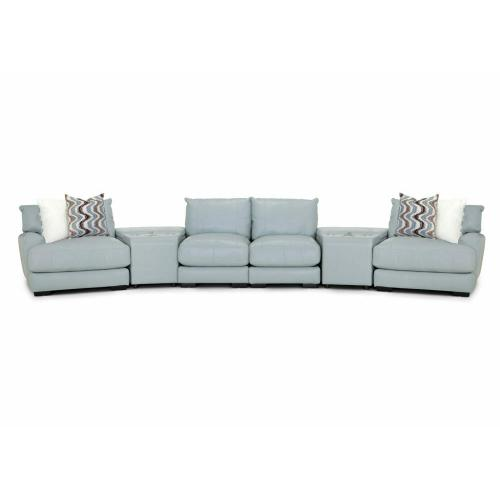 909 Valentia Leather Sectional