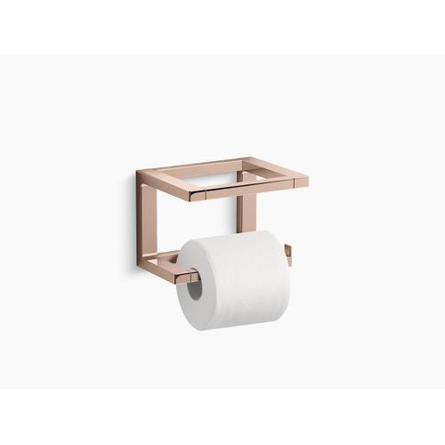 Vibrant Rose Gold Toilet Paper Holder