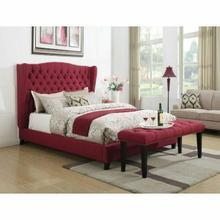 ACME Faye Eastern King Bed - 20887EK - Red Linen