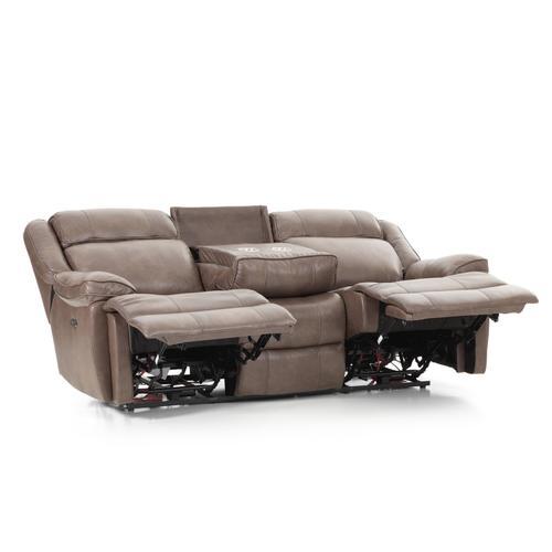 Product Image - Avalon Dual Power Reclining Sofa  Leather Latte