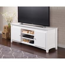 See Details - Nantucket 60 inch Entertainment Console with Adjustable Shelves in White