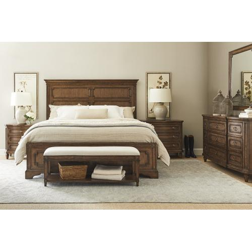 Hillside Panel Bed - Chestnut / California King