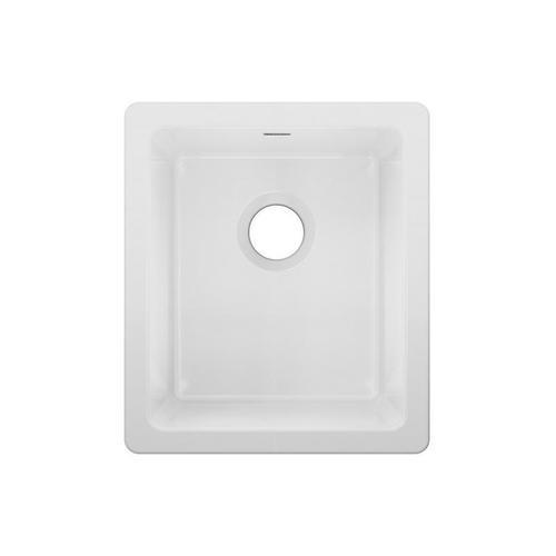 """Elkay - Elkay Fireclay 16-3/8"""" x 18-7/8"""" x 10-1/8"""" Single Bowl Undermount Bar Sink White"""