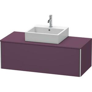 Vanity Unit For Console Wall-mounted, Aubergine Satin Matte (lacquer)