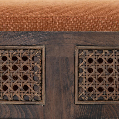 Savoy Rust Cover Cooper Ottoman