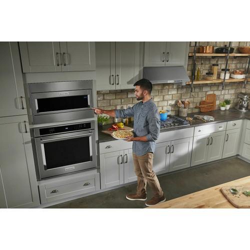 KitchenAid - 1000 Watt Built-In Low Profile Microwave with Standard Trim Kit - Stainless Steel