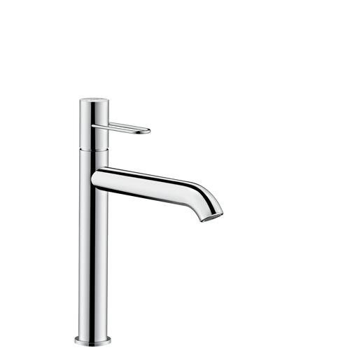 Brushed Black Chrome Single lever basin mixer 190 with loop handle for wash bowls and waste set
