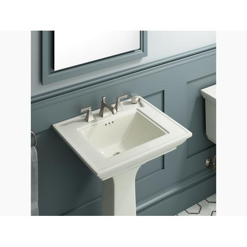"Biscuit 24"" Pedestal Bathroom Sink With 8"" Widespread Faucet Holes"