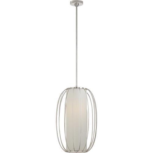 Barbara Barry Carousel 1 Light 16 inch Polished Nickel Lantern Pendant Ceiling Light, Medium Oblong