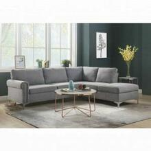 ACME Melvyn Sectional Sofa - 52755 - Gray Fabric