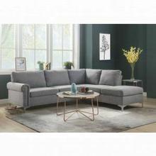 ACME Melvyn Sectional Sofa - 52755 - Gray Fabric