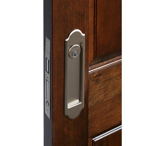 Baldwin - Satin Nickel PD016 Boulder Pocket Door